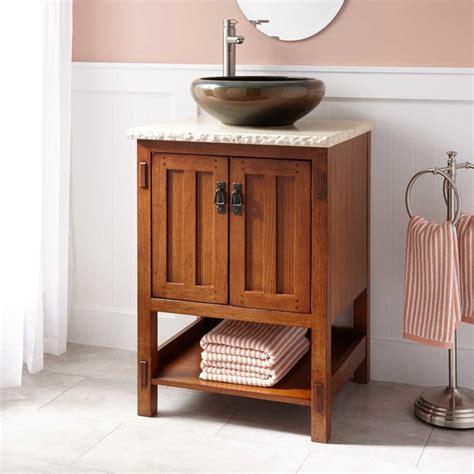 24 quot halstead vessel sink vanity rustic bathroom