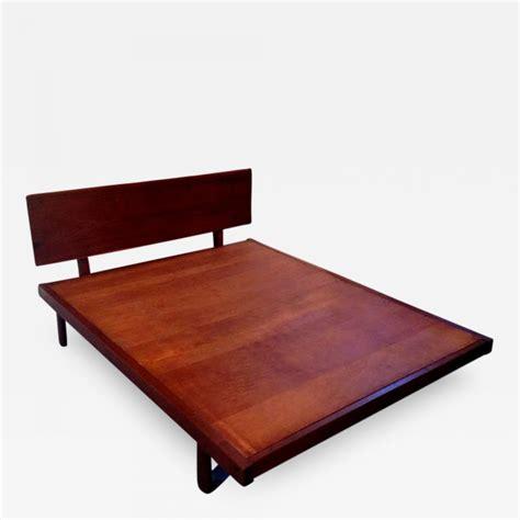 George Nakashima - Platform Bed with Walnut Headboard