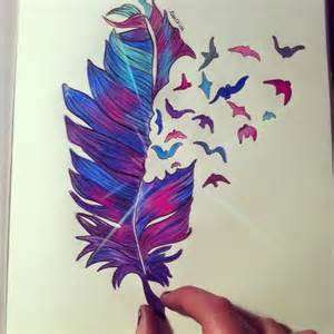Cute Colorful Colored Pencil Drawings