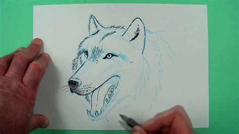 wie zeichnet man einen wolf zeichnen fuer kinder und