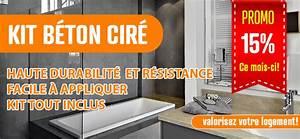 Béton Ciré Pas Cher : b ton cir sol salle de bain terrasse plan de travail ~ Premium-room.com Idées de Décoration