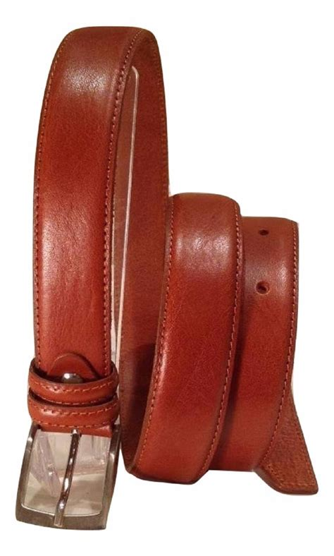 Italian Cowhide Leather by Italian Cowhide Leather S Belt With Chrome Buckle Brown