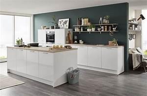 Nobilia kuche focus inselkuche for Wasserhahn küche wei