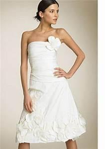 robe bustier mi longue With robe de mariée mi longue