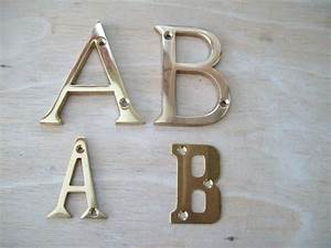 quality brass door letters ironmongery world With brass letters for doors