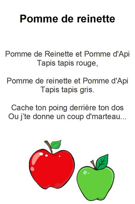 pomme de reinette et pomme d api tapis tapis comptine pomme de reinette et pomme d api paroles illustr 233 es quot pomme de reinette quot