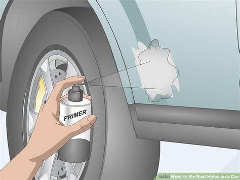 rust holes fix step patch wikihow sanding much