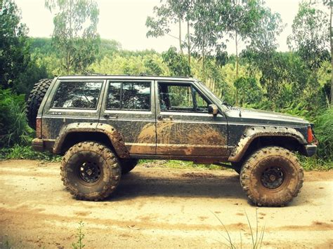 Mud Jeep Cherokee Xj Blue Jeeps Pinterest The Old
