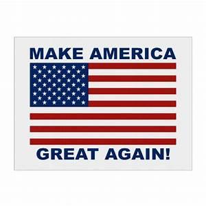 US Flag Make America Great Again Sign | Zazzle
