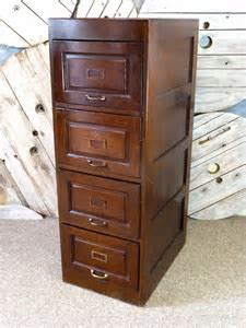 Edwardian Dark Oak Four Drawer Filing Cabinet   Antiques Atlas