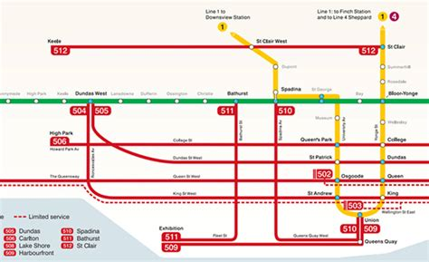 ttc map streetcar subway routes route combines streetcars showing blogto