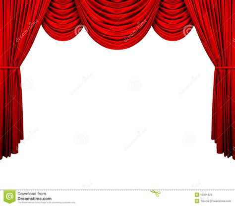 stage curtain stock  image