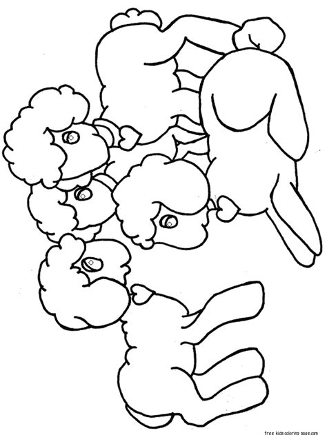 printable easter lamb coloring pages  kidsfree