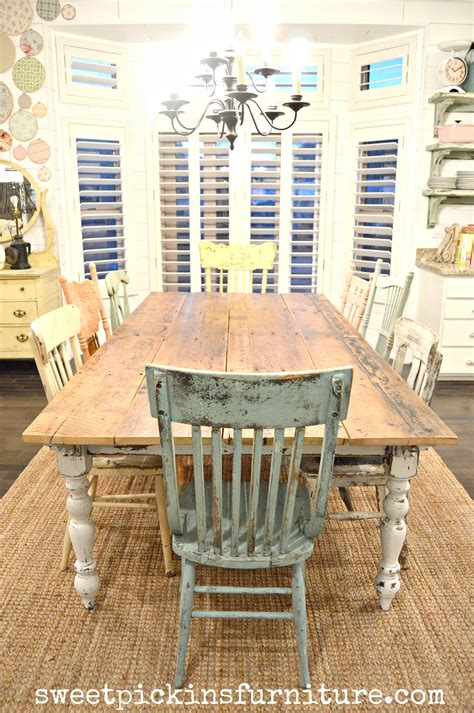 farm style kitchen table for sale my new farm style table w mismatched chairs sweet