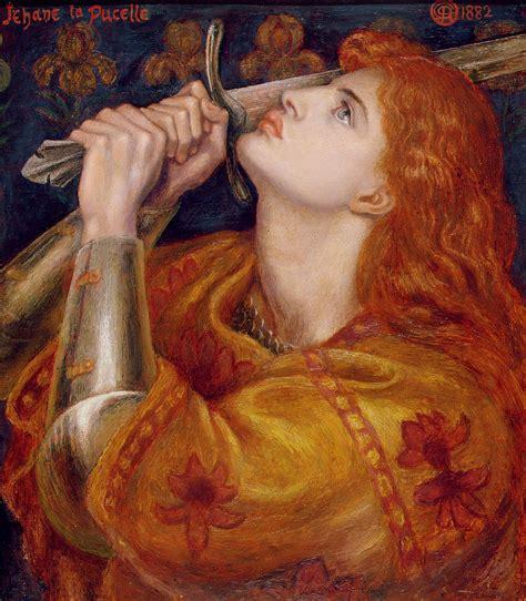 of dante gabriel rosetti joan of arc by dante charles gabriel rossetti