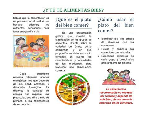 folleto nutritivo