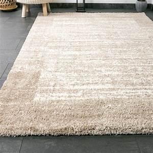 poils longs shaggy tapis couleur beige creme tres mince With tapis yoga avec canapé extra moelleux