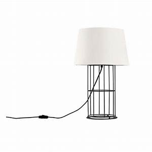 north country iron frame and flax shade table lamp 11389 With x frame lamp table