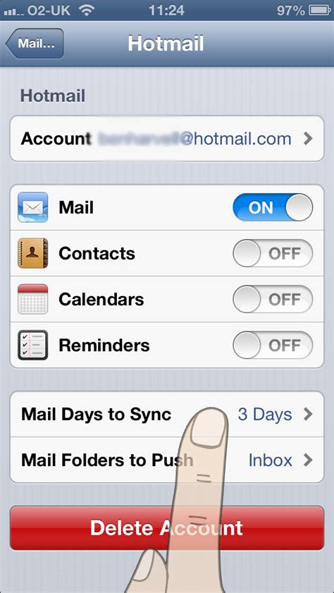 hotmail on iphone how to sync a hotmail account on an iphone 7 steps