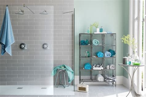 Gray White And Aqua Bathroom by Aqua Accents Bathroom Ideas Tiles Furniture