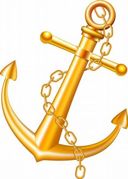 Anchor Vector Clipart Golden Illustration Graphic Svg