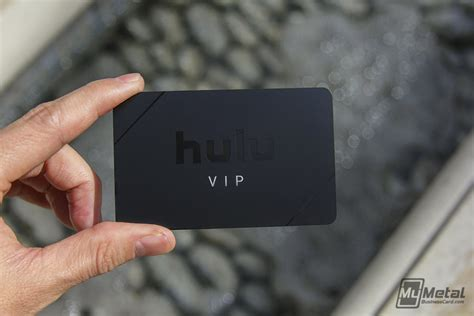 black metal vip card with black spot color for hulu 23533 world leader in metal business cards