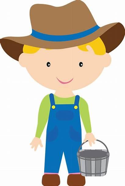 Boy Farm Farmer Clipart Clip Cartoon Boys
