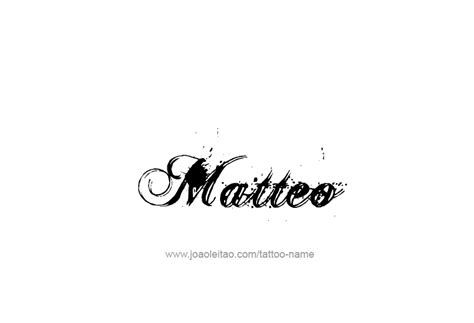 Matteo Name Tattoo Designs