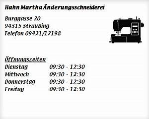 Wanninger Straubing öffnungszeiten : hahn martha nderungsschneiderei schneidereien in straubing kagers ffnungszeiten ~ Watch28wear.com Haus und Dekorationen