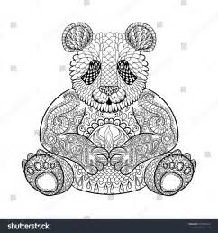 Adult Coloring Pages Animals Panda
