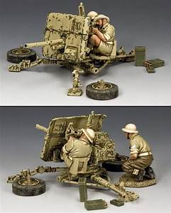 Marine Artillery 2 Pounder Anti Tank Gun With British Crew Eighth Army