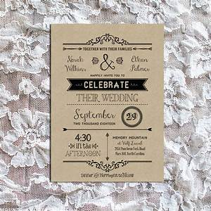 Vintage rustic diy wedding invitation template for Diy rustic chic wedding invitations free printable template ahandcraftedwedding