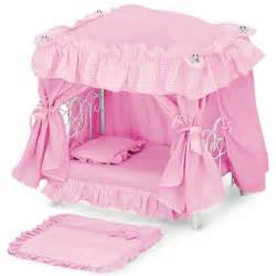amazon com toddler girls baby doll canopy bed bedroom
