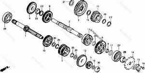 Honda Motorcycle 1986 Oem Parts Diagram For Transmission