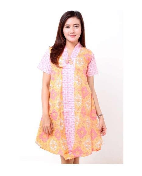 model dress batik kombinasi brokat terbaru