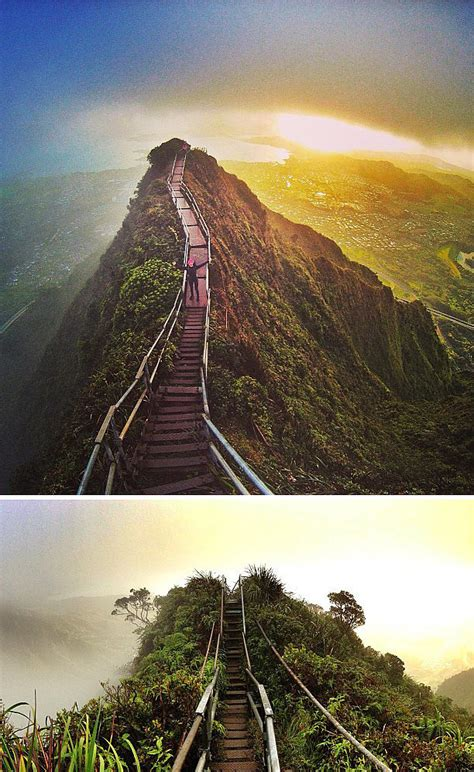 Haiku Stairs Hawaii 83 Unreal Places You Thought Only