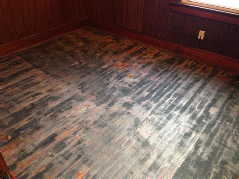 sandless floor refinishing diy wow this floor looks terrible check out the after photo