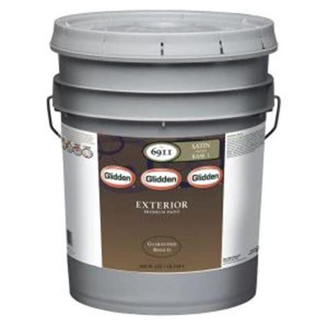 glidden premium 5 gal satin exterior paint gl6911
