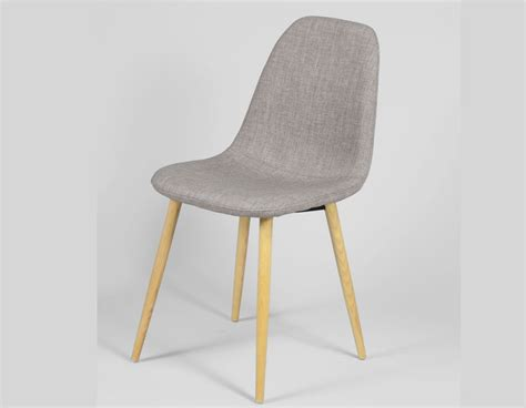 chaise grise tissu chaise grise scandinave