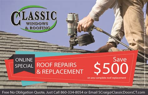 Roofing Sales by Sales Specials Classic Windows Roofing