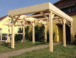 Abri Voiture En Bois : abri carport toit plat 1 voiture abri en bois garage ~ Nature-et-papiers.com Idées de Décoration