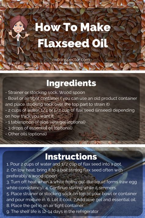 What Is Flaxseed Oil Good For?  Nutri Inspector