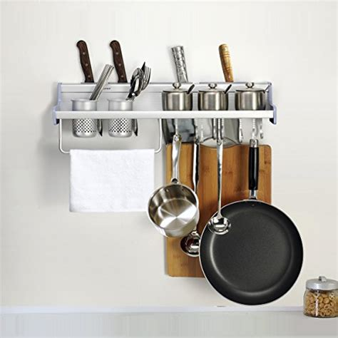 Kitchen Hooks For Pot Holders by Kitchen Wall Pot Pan Rack Plumeet 5 In 1 Wall Mounted