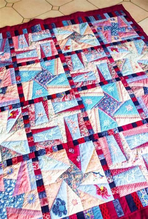 Crazy patchwork quilt blocks set 1 8x8 9x9 10x10 in the