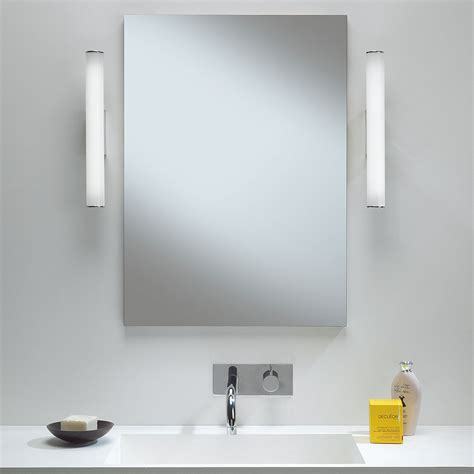 astro dio polished chrome bathroom led wall light at uk