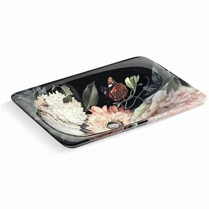 Kohler Dutchmaster Lavabo Bathroom Drop Blush Floral