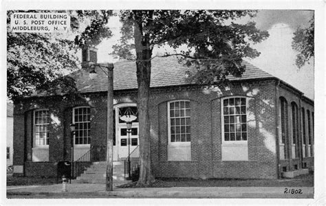 Middleburg New York Federal Bldg Post Office Antique