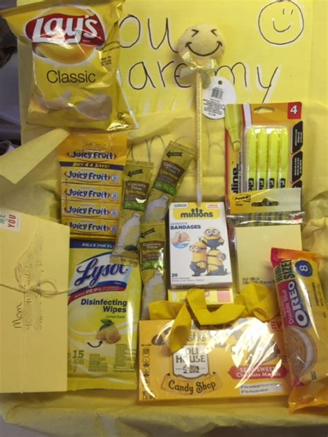 Straw-Bearie Designs: Box of Sunshine Care Package for my