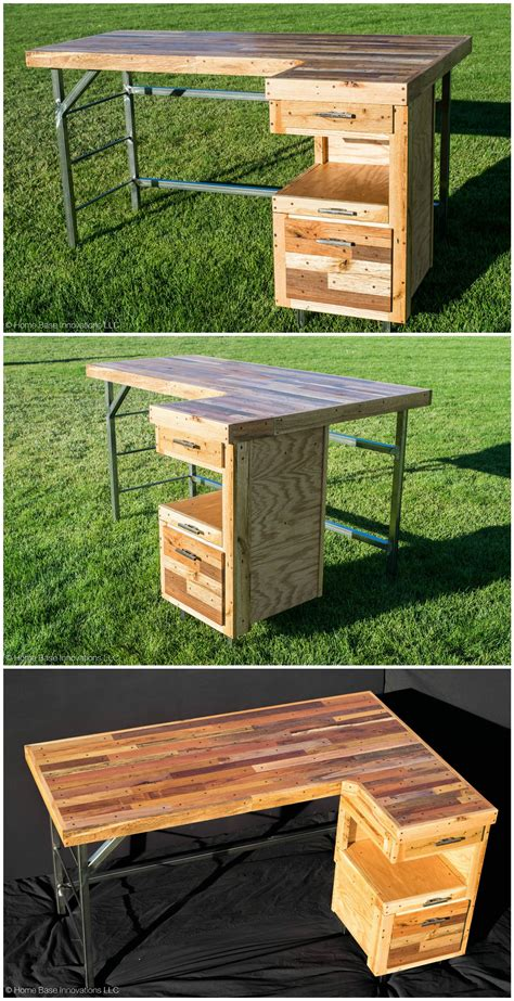 industrial standing executive desk  repurposed pallets