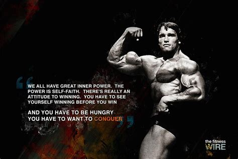 arnold schwarzenegger conquer quotes poster  hot posters